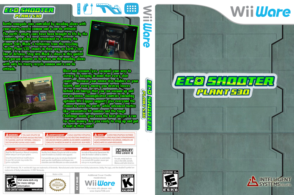Eco Shooter: Plant 530 Wii coverfullHQ (W6BE)