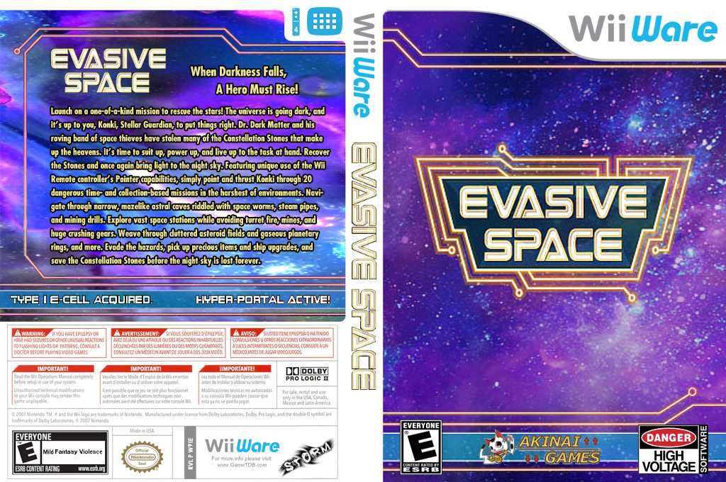 Evasive Space Wii coverfullHQ (W9IE)