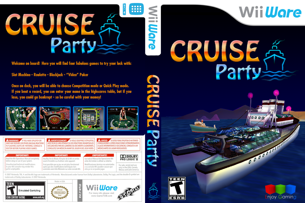 Cruise Party Wii coverfullHQ (W9UE)