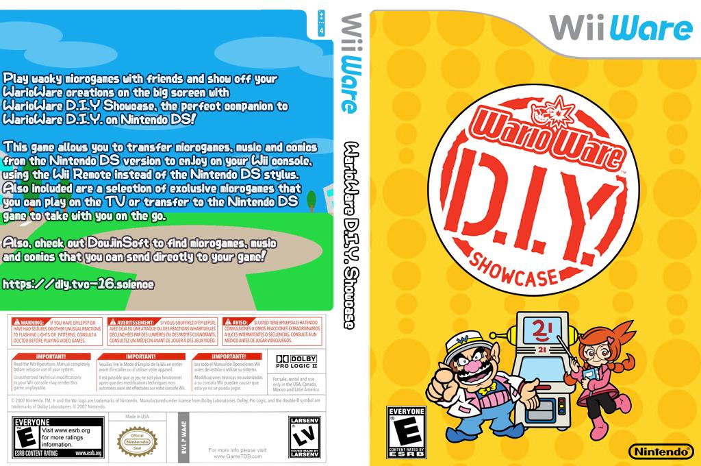 WarioWare: D.I.Y. Showcase Wii coverfullHQ (WA4E)