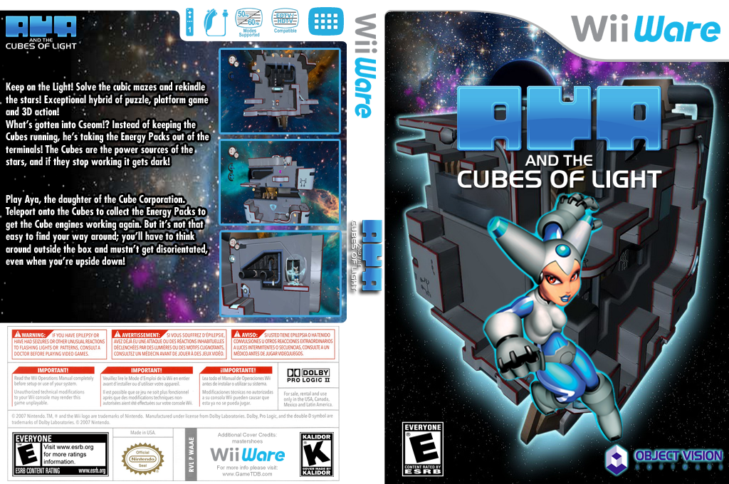 Aya and the Cubes of Light Wii coverfullHQ (WAAE)