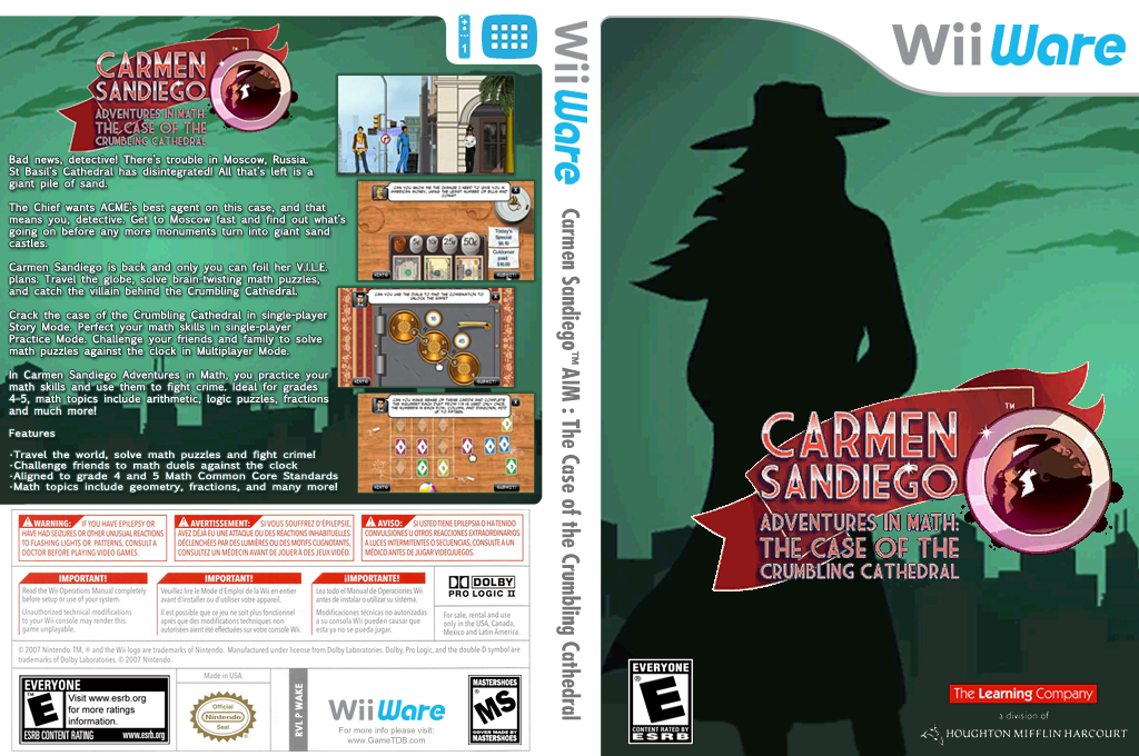 Carmen Sandiego Adventures in Math: The Case of the Crumbling Cathedral Wii coverfullHQ (WAKE)