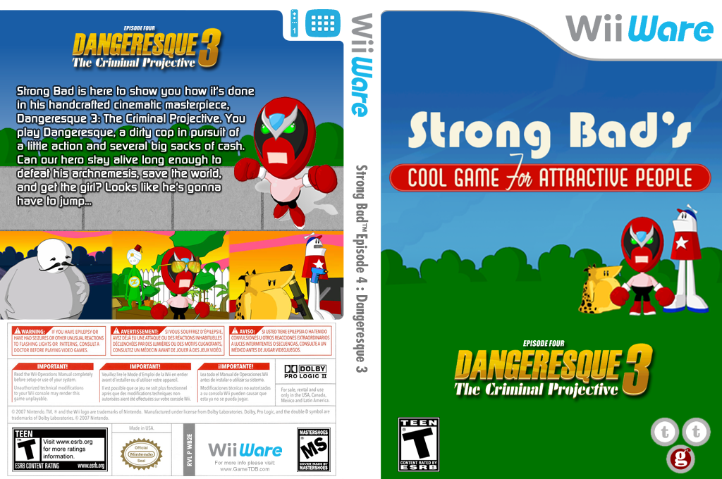 Strong Bad Episode 4: Dangeresque 3 Wii coverfullHQ (WB2E)