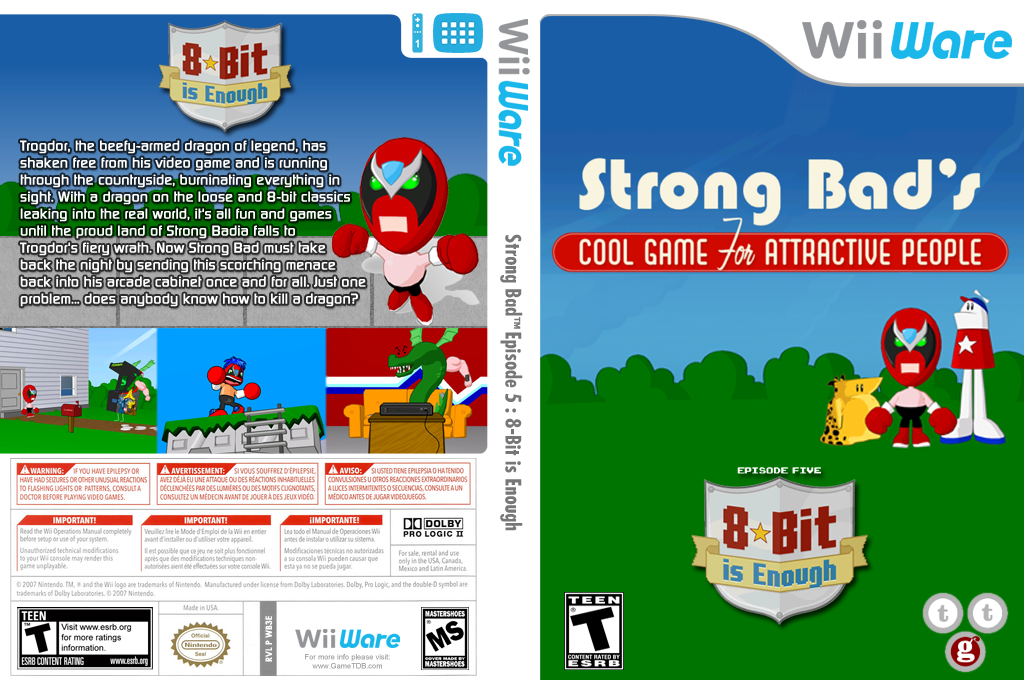 Strong Bad Episode 5: 8-bit is Enough Wii coverfullHQ (WB3E)
