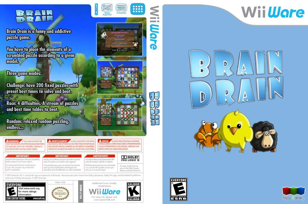 Brain Drain Wii coverfullHQ (WBDE)