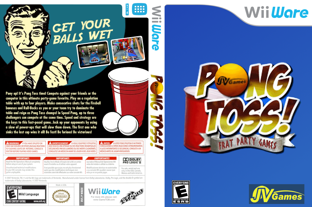 Pong Toss: Frat Party Games Wii coverfullHQ (WBEE)
