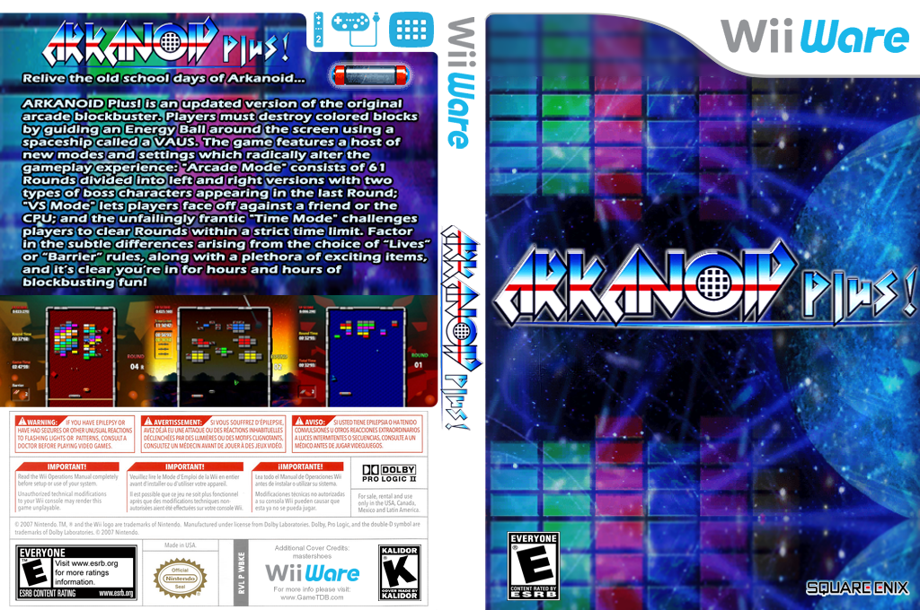 Arkanoid Plus! Wii coverfullHQ (WBKE)