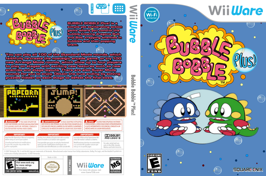 Bubble Bobble Plus! Wii coverfullHQ (WBLE)