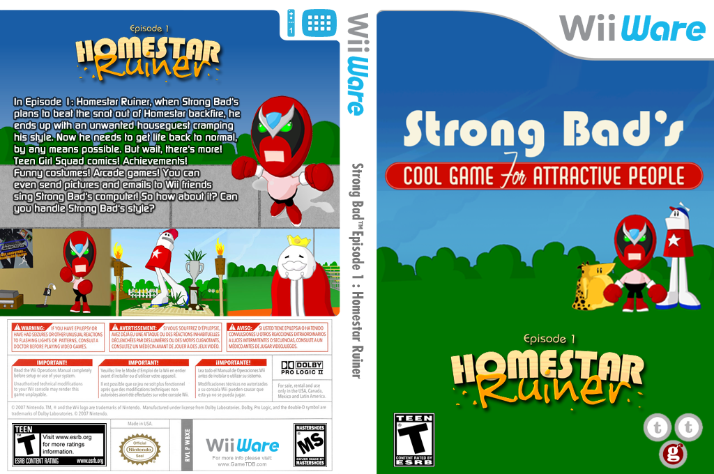 Strong Bad Episode 1: Homestar Ruiner Wii coverfullHQ (WBXE)
