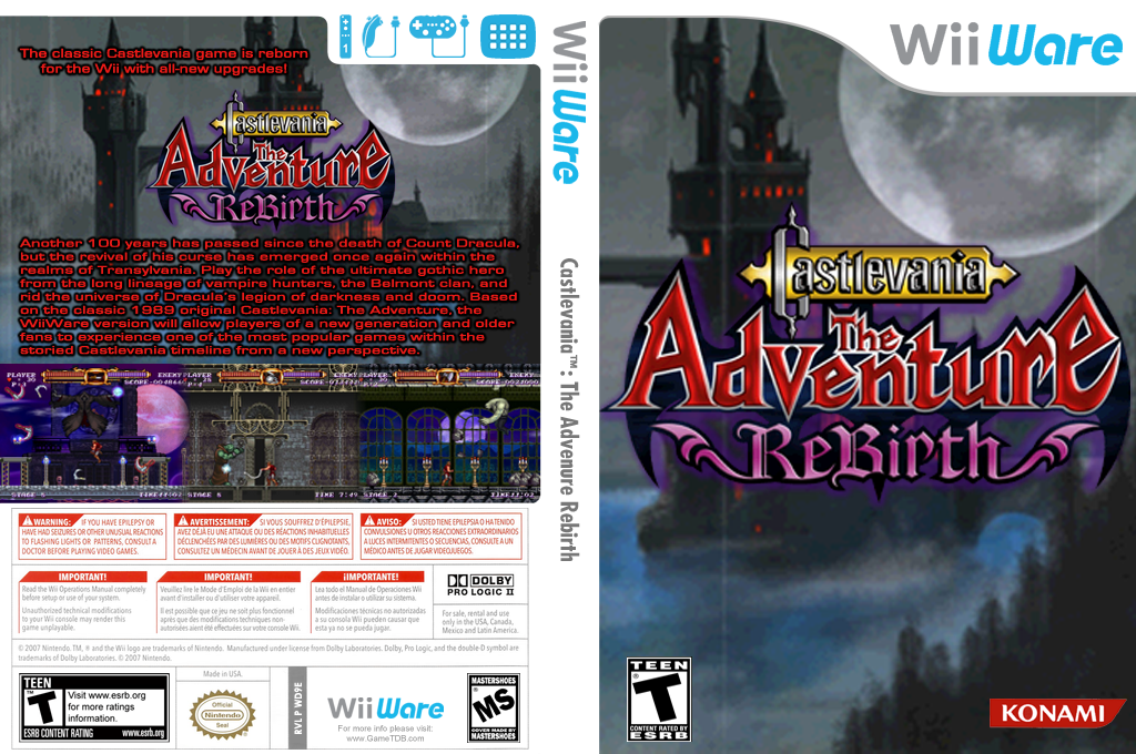 Castlevania The Adventure ReBirth Wii coverfullHQ (WD9E)