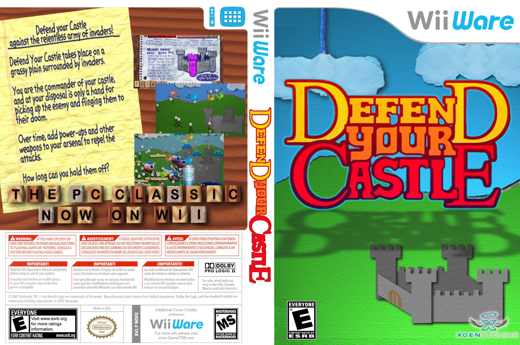 Defend your Castle Wii coverfullHQ (WDFE)