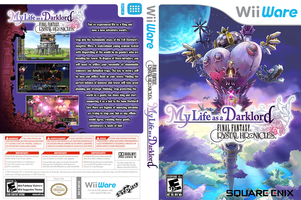 Final Fantasy Crystal Chronicles: My Life as a Darklord Wii coverfullHQ (WF2E)