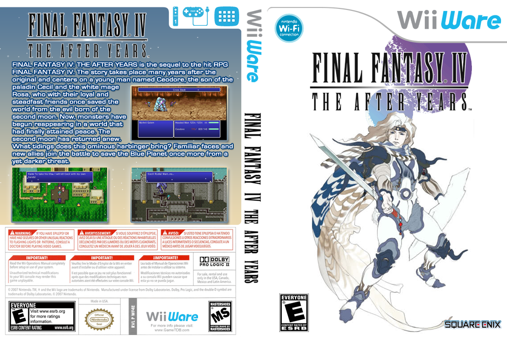 Final Fantasy IV: The After Years Wii coverfullHQ (WF4E)