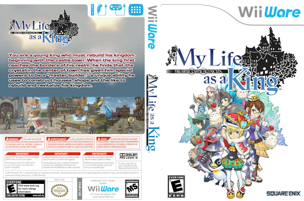 Final Fantasy Crystal Chronicles: My Life as a King Wii coverfullHQ (WFCE)