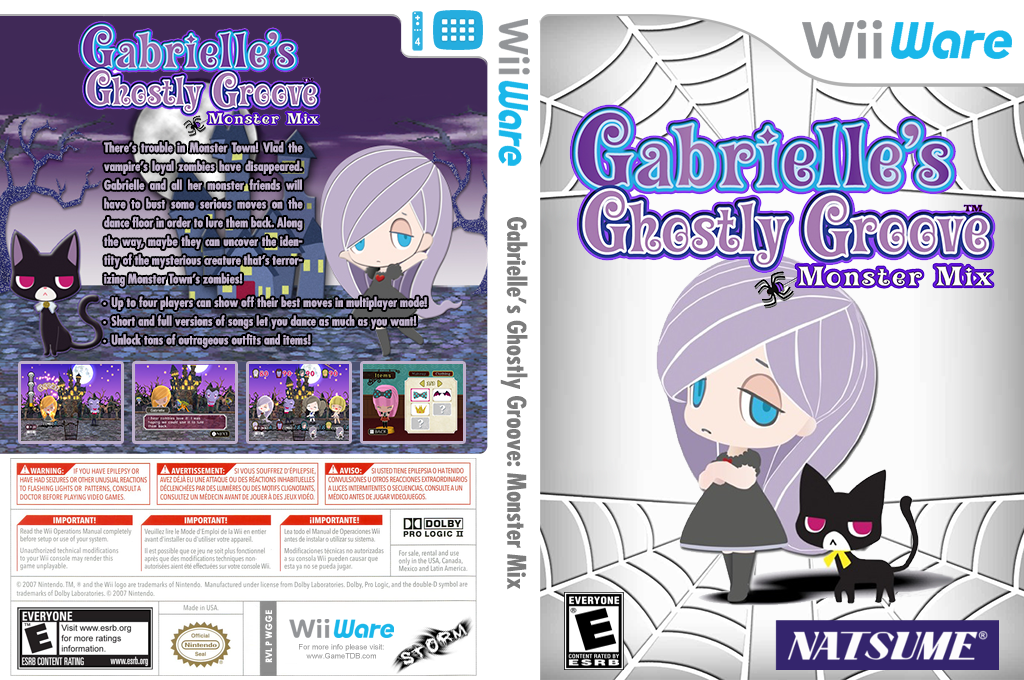Gabrielle's Ghostly Groove: Monster Mix Wii coverfullHQ (WGGE)