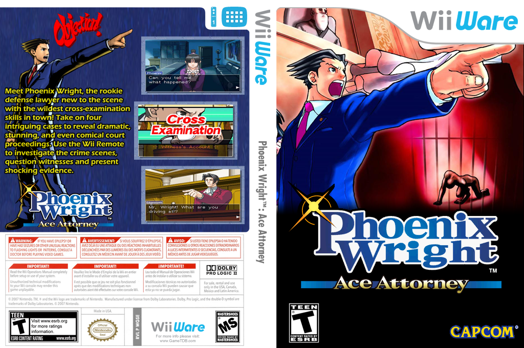 Phoenix Wright: Ace Attorney Wii coverfullHQ (WGSE)