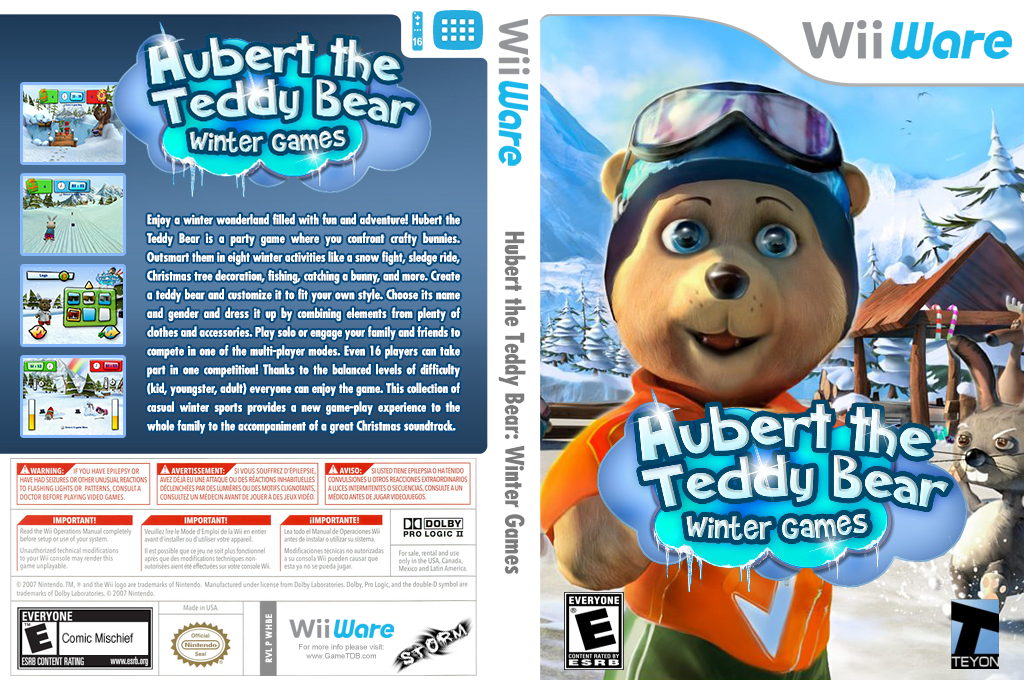 Hubert the Teddy Bear: Winter Games Wii coverfullHQ (WHBE)
