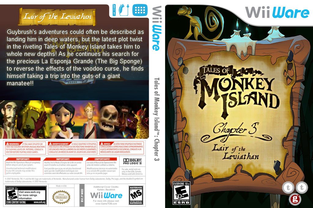Tales of Monkey Island: Chapter 3 - Lair of the Leviathan Wii coverfullHQ (WIEE)