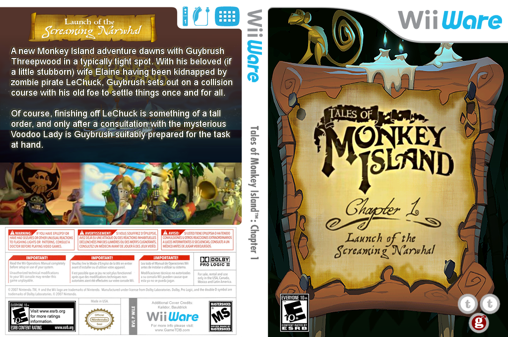 Tales of Monkey Island: Chapter 1 - Launch of the Screaming Narwhal Wii coverfullHQ (WILE)