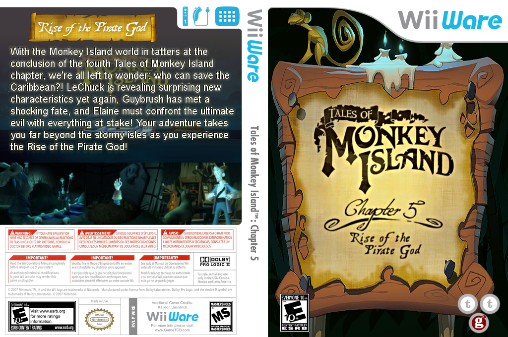 Tales of Monkey Island: Chapter 5 - Rise of the Pirate God Wii coverfullHQ (WIRE)