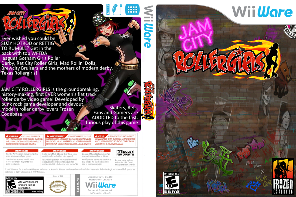 Jam City Rollergirls Wii coverfullHQ (WJAE)