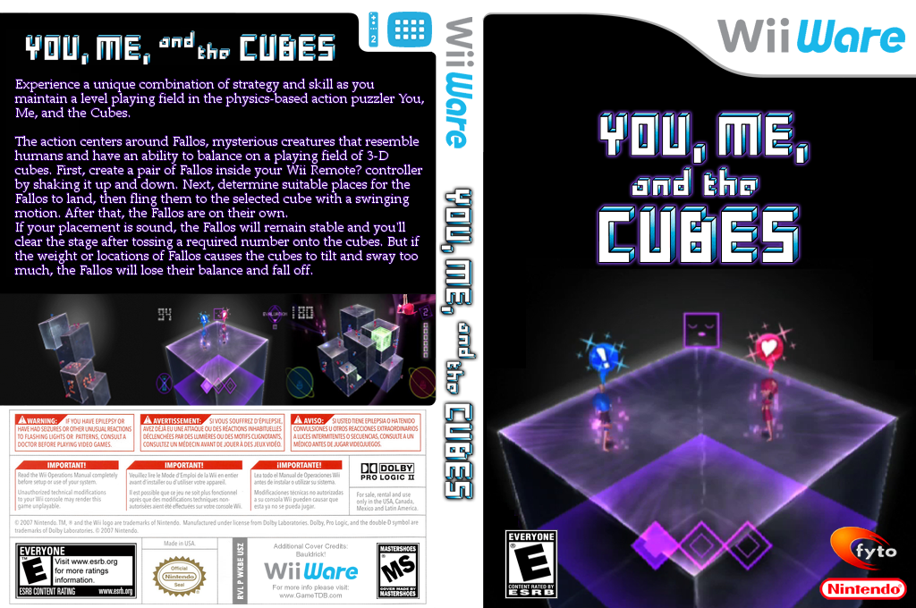 You, Me, and the Cubes Wii coverfullHQ (WKBE)