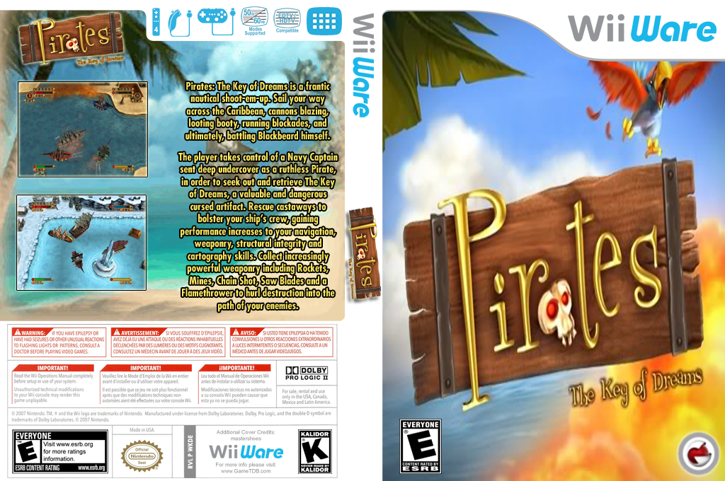 Pirates: The Key of Dreams Wii coverfullHQ (WKDE)