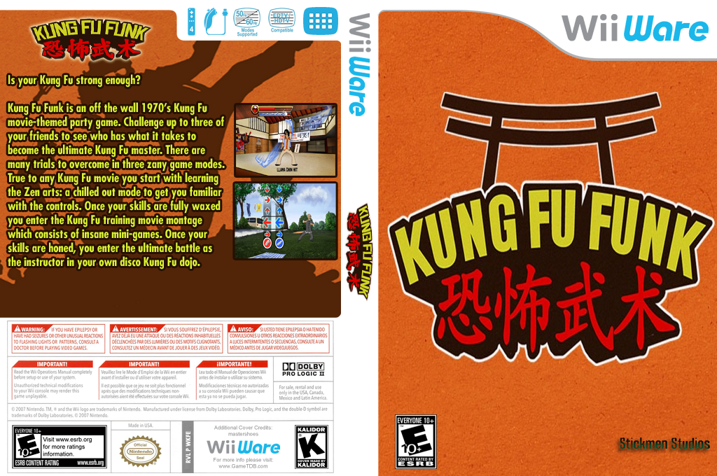 Kung Fu Funk: Everybody is Kung Fu Fighting! Wii coverfullHQ (WKFE)