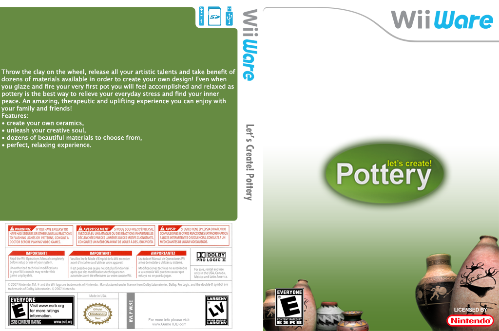 Let's Create! Pottery Wii coverfullHQ (WL9E)