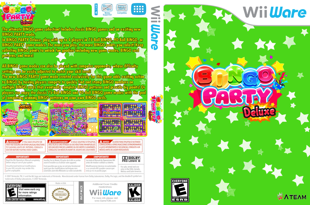 Bingo Party Deluxe Wii coverfullHQ (WLCE)