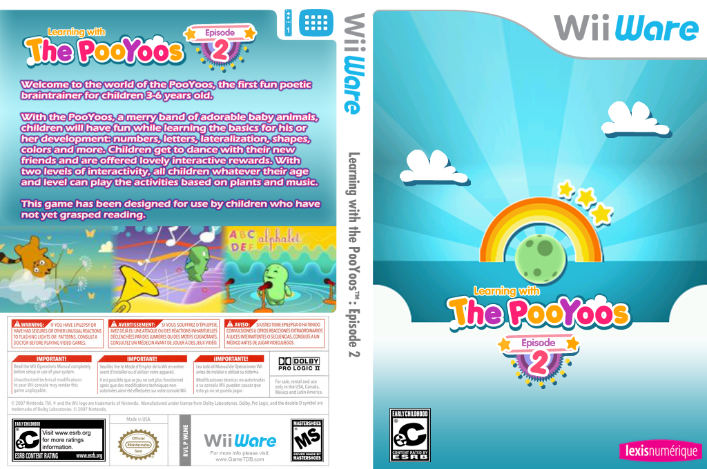 Learning with the PooYoos: Episode 2 Wii coverfullHQ (WLNE)