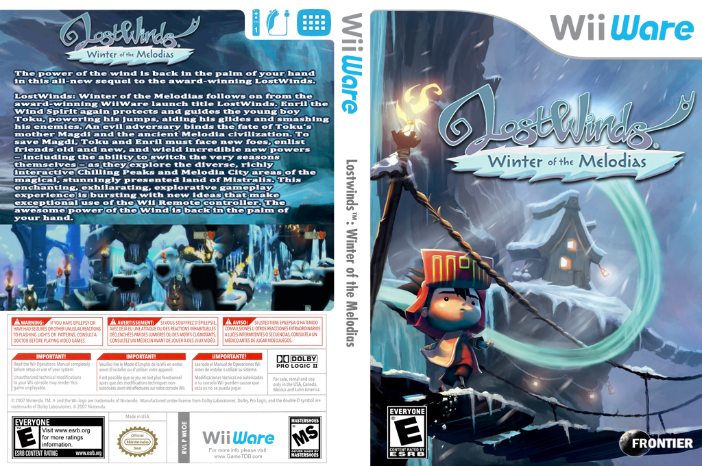 LostWinds: Winter of the Melodias Wii coverfullHQ (WLOE)