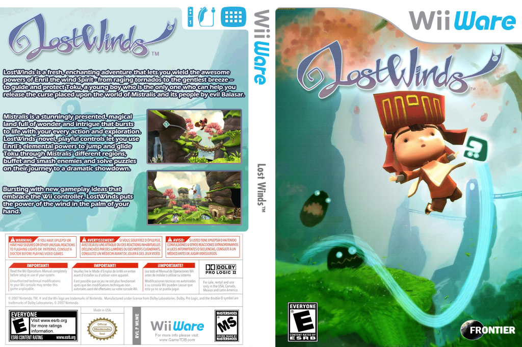 LostWinds Wii coverfullHQ (WLWE)