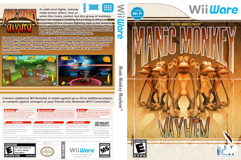 Manic Monkey Mayhem Wii coverfullHQ (WM3E)
