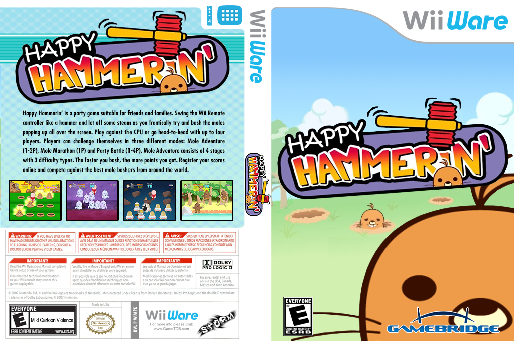 Happy Hammerin Wii coverfullHQ (WM9E)