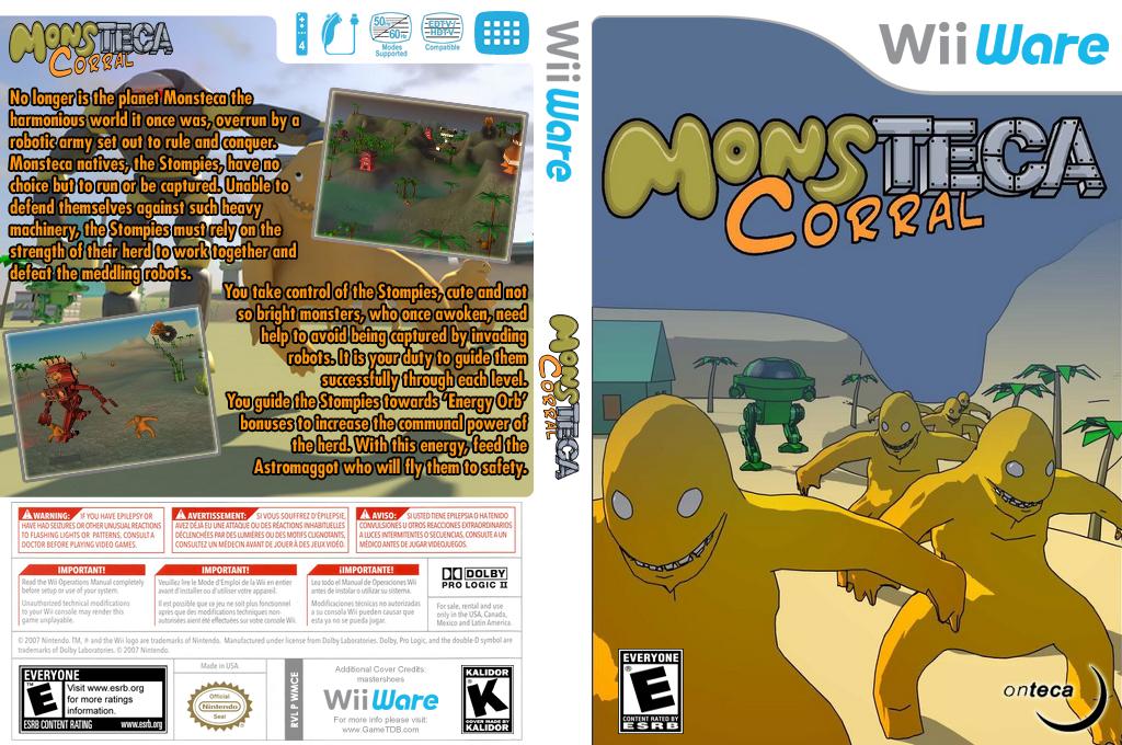 Monsteca Corral: Monsters vs. Robots Wii coverfullHQ (WMCE)