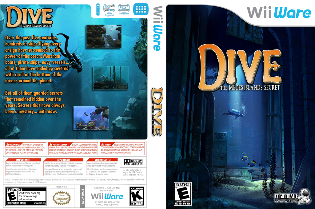 Dive: The Medes Islands Secret Wii coverfullHQ (WMJE)
