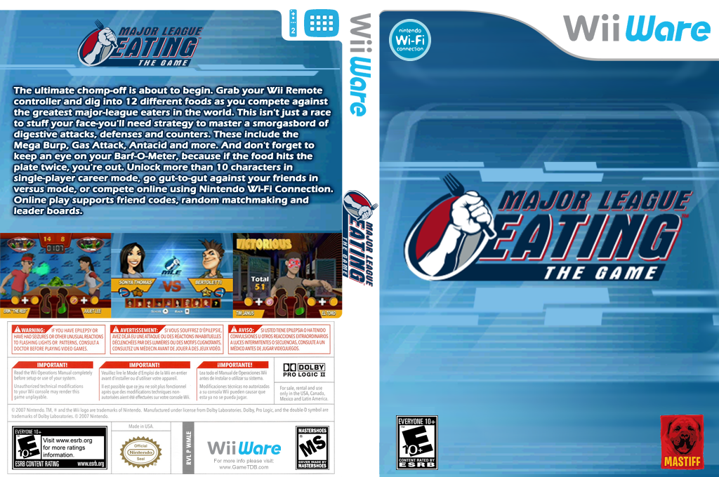 Major League Eating: The Game Wii coverfullHQ (WMLE)