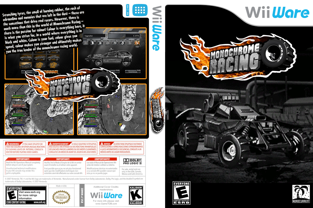 Monochrome Racing Wii coverfullHQ (WMRE)