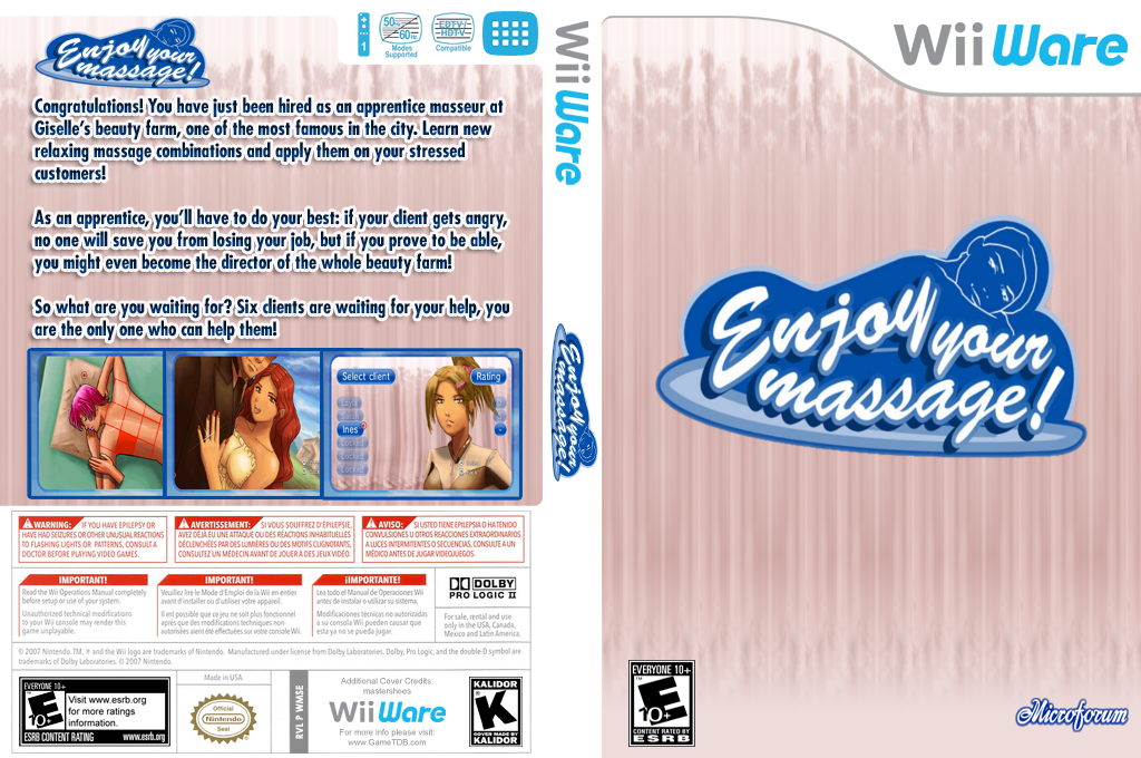 Enjoy your massage! Wii coverfullHQ (WMSE)