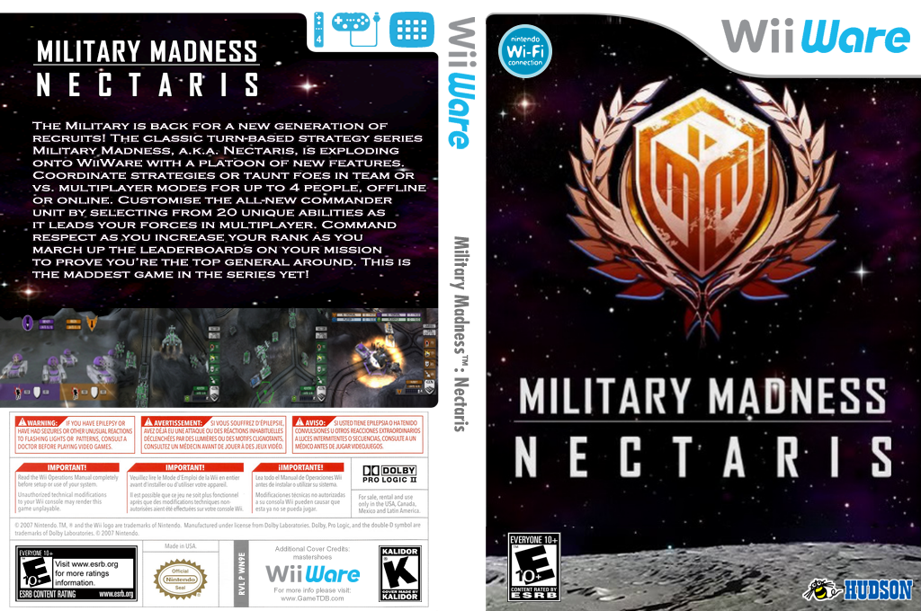 Military Madness: Nectaris Wii coverfullHQ (WN9E)