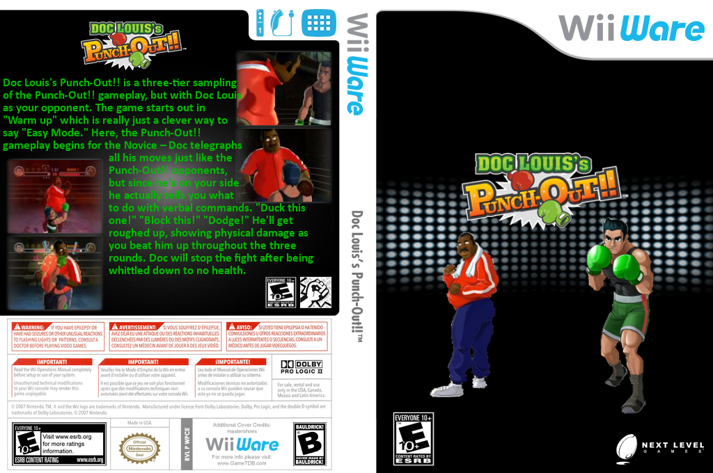 Doc Louis's Punch-Out!! Wii coverfullHQ (WPCE)