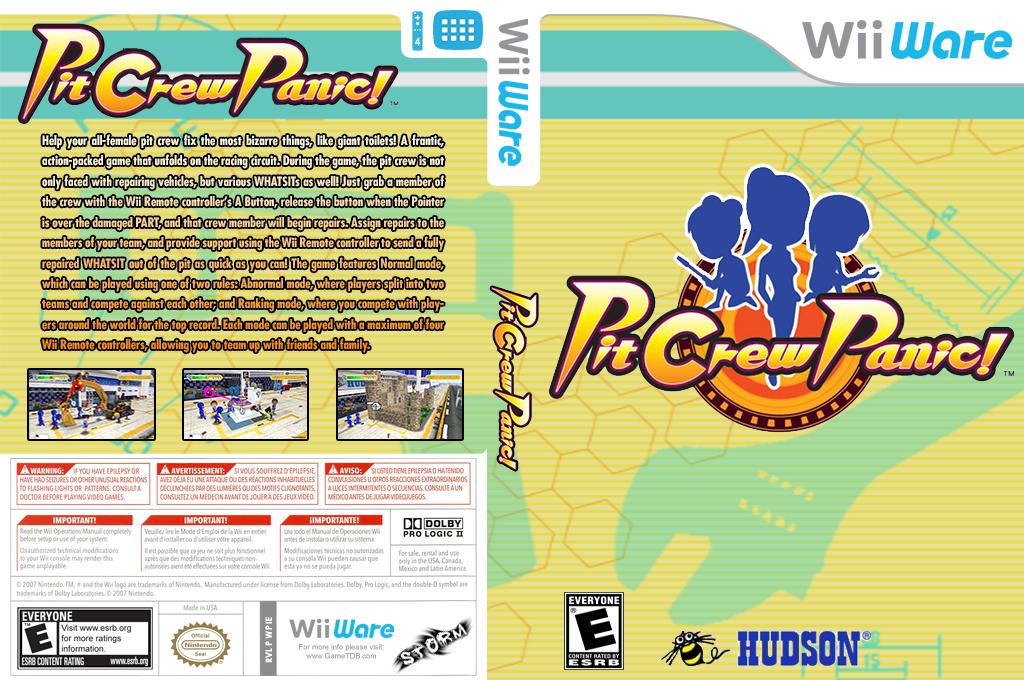 Pit Crew Panic! Wii coverfullHQ (WPIE)