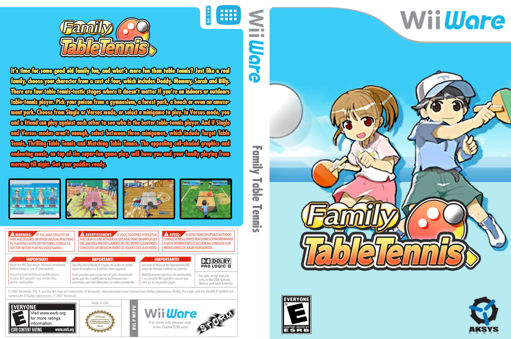 Family Table Tennis Wii coverfullHQ (WPPE)