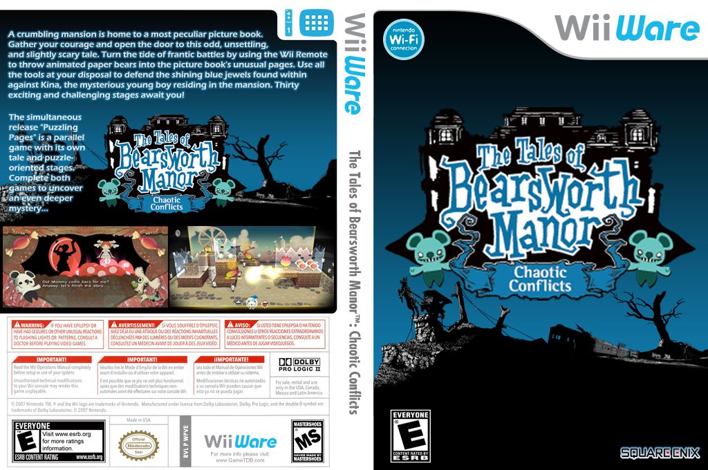 The Tales of Bearsworth Manor: Chaotic Conflicts Wii coverfullHQ (WPVE)