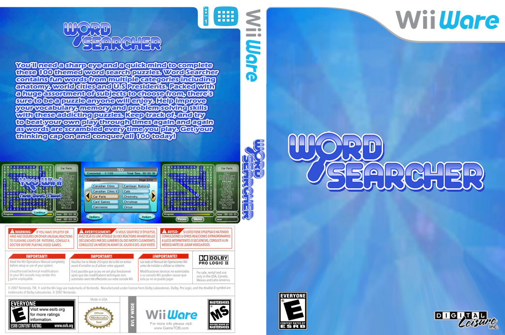 Word Searcher Wii coverfullHQ (WRDE)