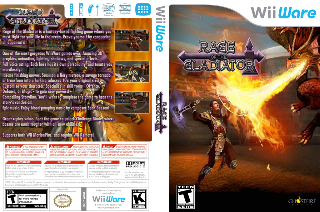 Rage of the Gladiator Wii coverfullHQ (WRGE)