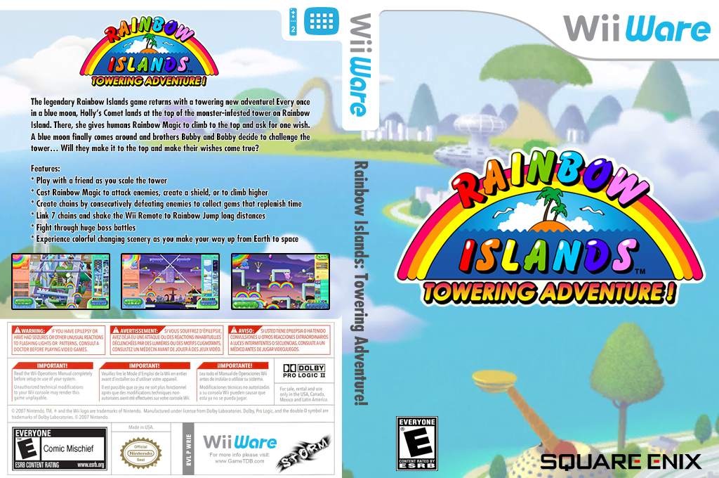 Rainbow Islands: Towering Adventure! Wii coverfullHQ (WRIE)