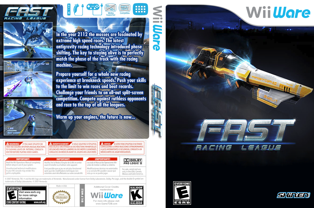 FAST Racing League Wii coverfullHQ (WRLE)