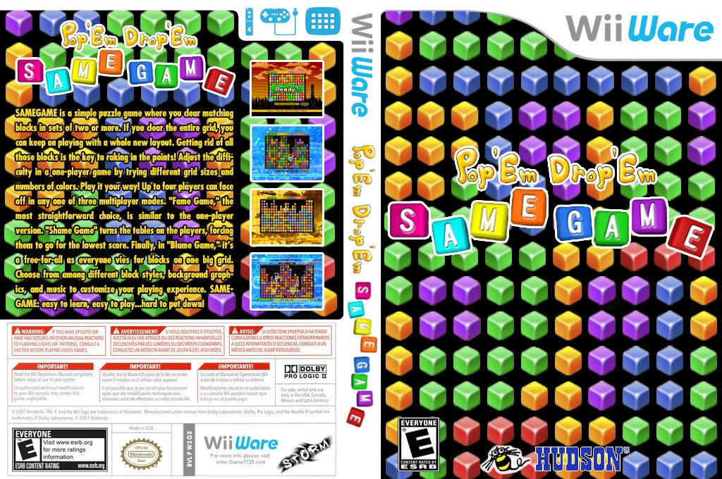 Pop 'Em Drop 'Em Samegame Wii coverfullHQ (WSGE)